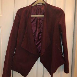 Maroon suede jacket